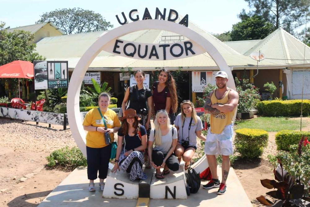Students at the Uganda Equator